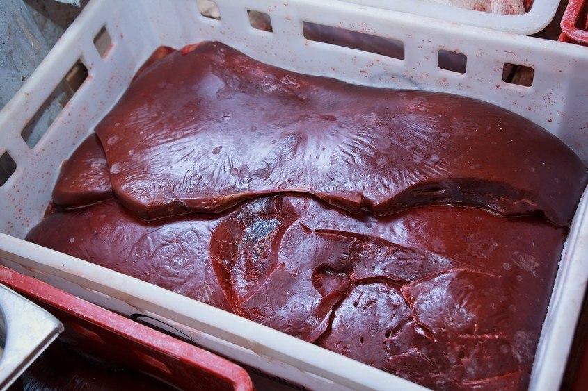 В Ростовской области ветеринарно-полицейская группа задержала 1644 кг свиной печени