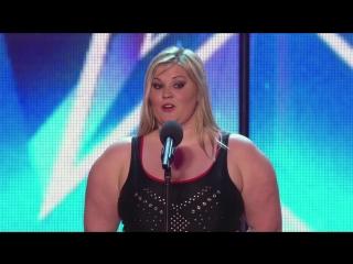 Зрители хотели смеяться над этой толстушкой на шоу талантов. Всего минута — и они были в восторге!