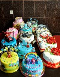Свадебные торты сине белые фото 5