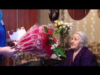Жительница г. Пикалёво Анисья Даниловна Зюрина отметила 90-летний юбилей