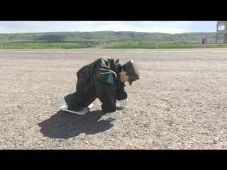 Посмотрите, какого робота создал участник военно-патриотического сбора молодежи «Айбын-2017»