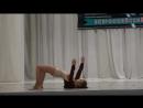 Иринка на сцене с гимнастическим танцем Тает лёд