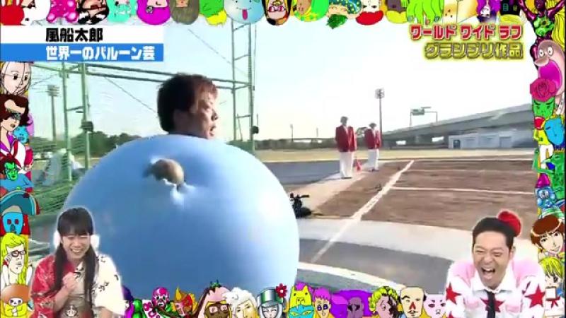 Человек шар пробует себя в легкой атлетике на японском телешоу