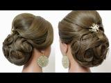 Bridal prom updo, hairstyles for long medium hair tutorial
