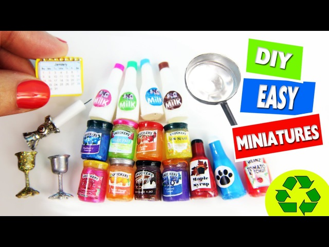 10 Easy DIY Miniatures - each in less than 1 minute 2