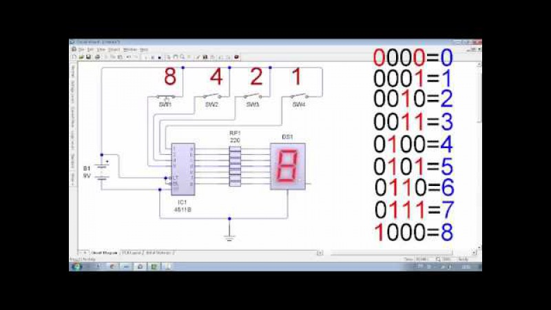 BCD to 7 Segment LED Display Decoder