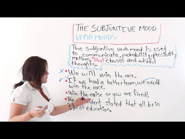 English Lesson: Verb Moods - The Subjunctive Mode