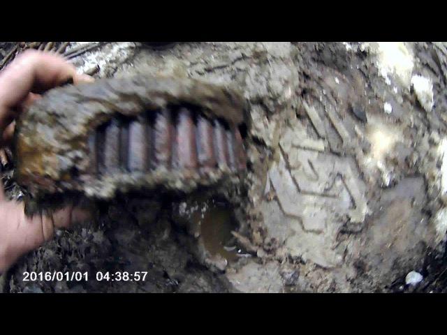 Раскопки немецкого блиндажа