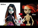 Ooak Custom Repaint SKELITA CALAVERAS Monster High Halloween Edition