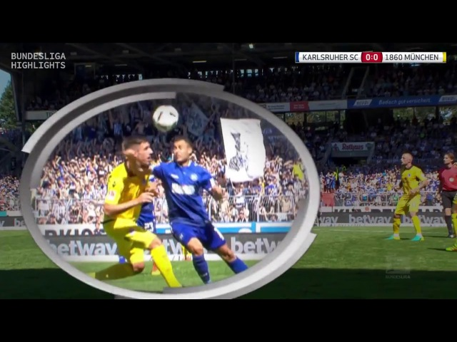 Карлсруэ vs Мюнхен 1860 27 08 2016 raport 720p