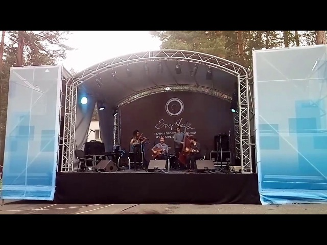 Gonzalo Bergara Quartet plays on the Open-air festival Ekaterinburg