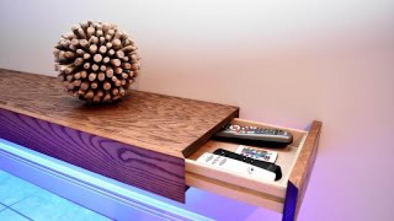 8ft Floating Shelf With Hidden Storage DIY Build