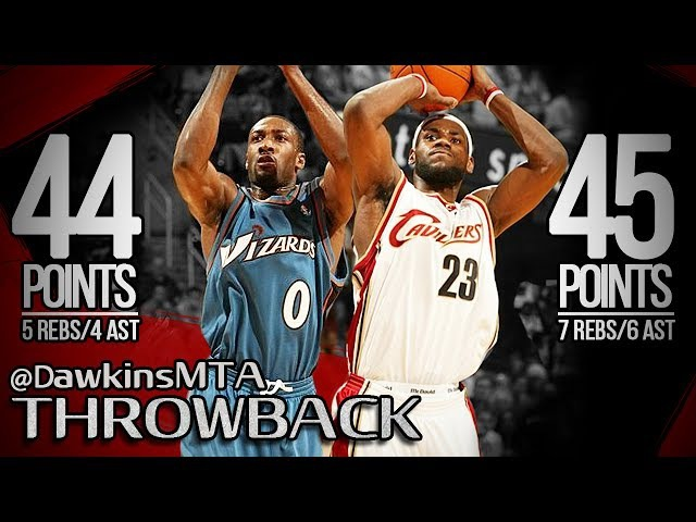 Gilbert Arenas 44 pts vs. Lebron James 45 pts (NBA Playoffs 2006 - Cleveland Cavaliers vs. Washington Wizards, Game 5) [HD]