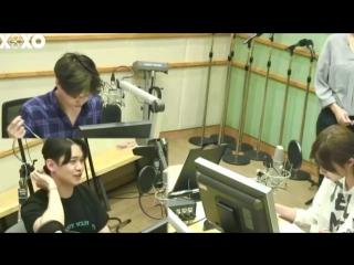 [РУСС. САБ] 160704 @ Радио Сукира с Каем / Super Junior Kiss The Radio