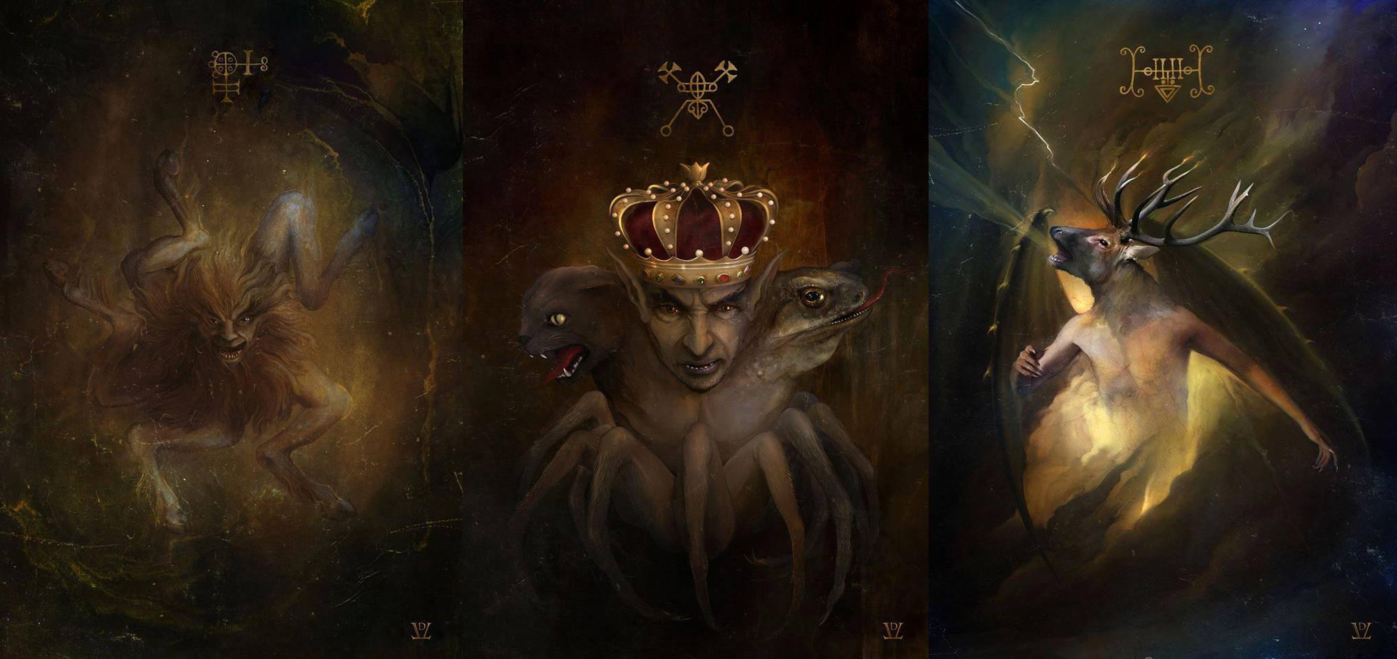 Изображения демонов Гоэтии и мифологических существ в работах Даниэля Валериани