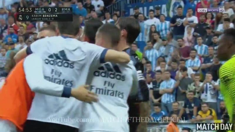 Karim Benzema Goal - Malaga vs Real Madrid 0-2 - La Liga 21/05/17