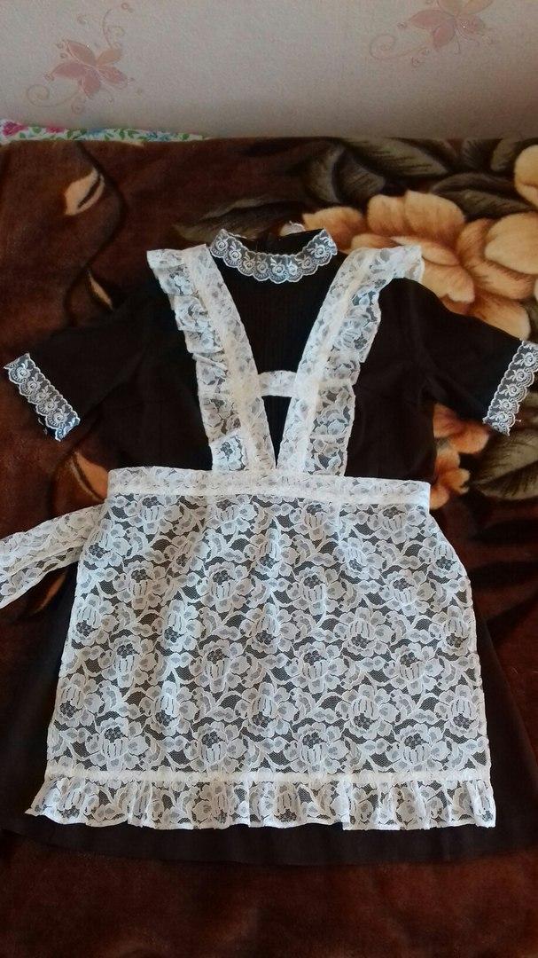 #05235_жен_одежда Школьная форма(коричневая) с фартушком, р-р46-48,цена 250грн