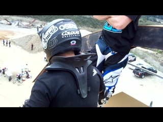 Aaron Fotheringham wheelchair backflip attempt at the Nitro Circus TF, Pala, CA