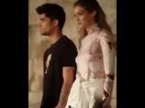 Зейн и Джиджи на показе Givenchy, Париж [7]