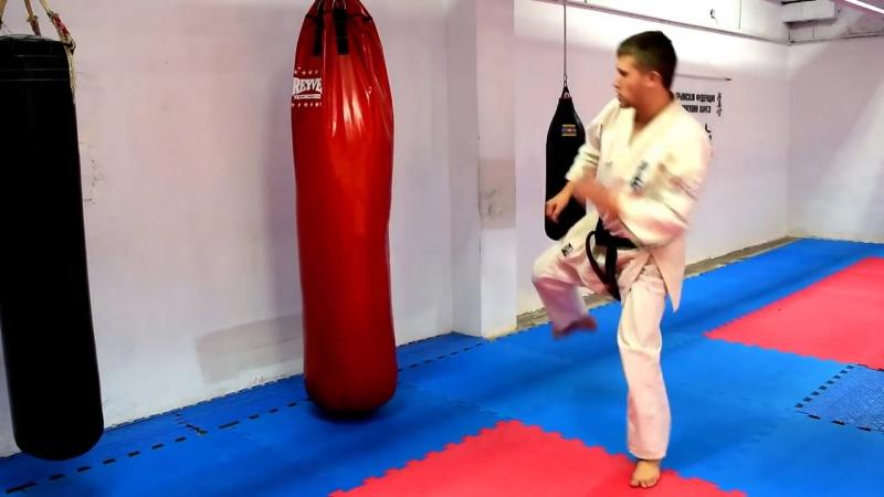 Если промахнулся после вертушки _ Киокушинкай каратэ _ Ushiro Mawashi _ MMA _ Единоборства