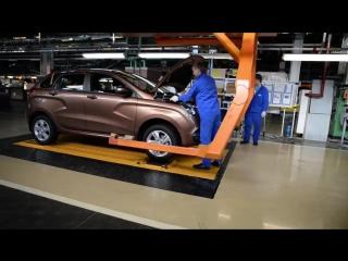 Процесс сборки Lada Xray