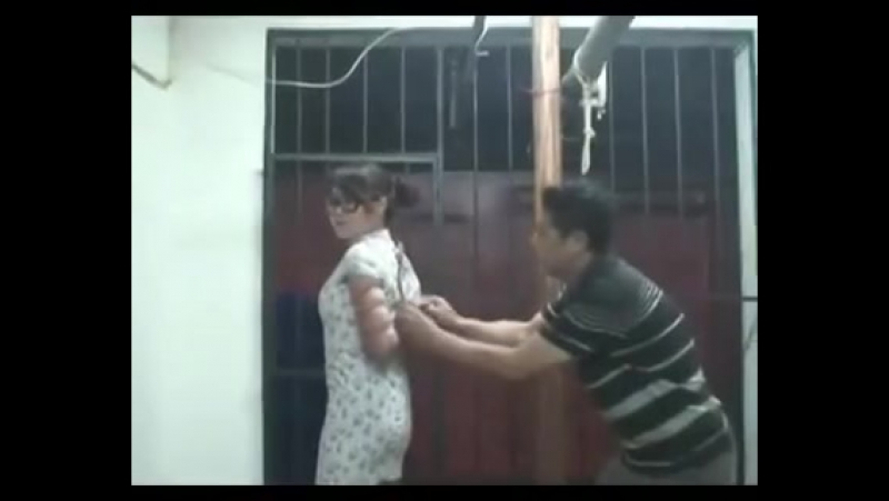 Chinese Sexy Girl Stuff Gagged And Tied Up Tight in Tradional Dress