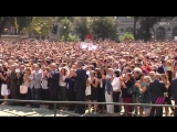 Минута молчания в Барселоне