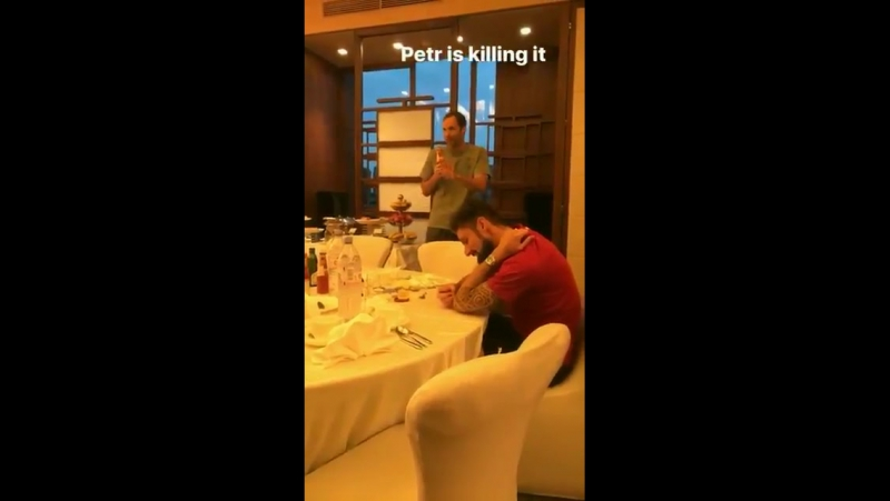 Petr Cech's rap in Beijing Don't worry Alex @LacazetteAlex if you need some passes Mesut is ready and he can assist 😂