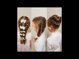 3 good looking hairstyles for school - How to braid child to school? Как заплести ребенка в школу?