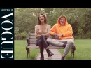 Rapid Fire Questions with Bella Hadid and Jordan Barrett for Vogue Australia September 2017