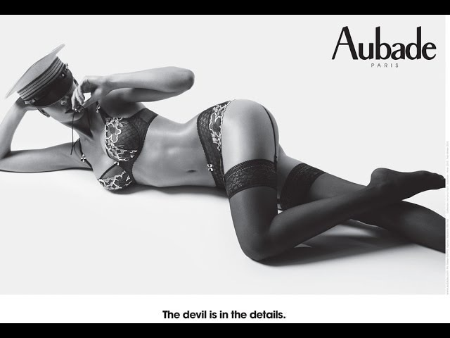 Креативная реклама женского нижнего белья Lingerie Aubade. French art of Loving