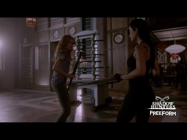 Shadowhunters Season 2 Sneak Peek Clary Izzy Train Freeform