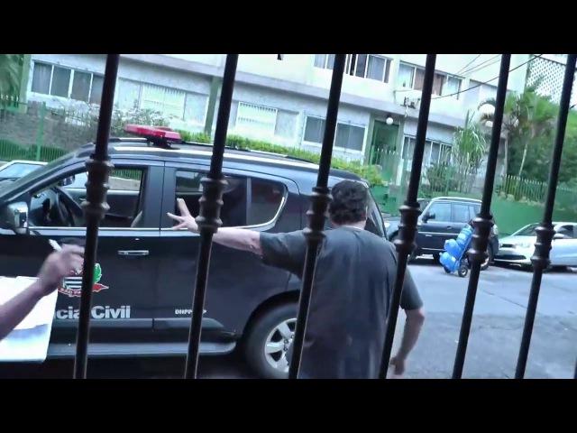 Polícia com Agente Comendador da novela tenta intimidar vlogger Daniel Fraga [CENSURADO pela justiça