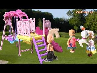 Мультики для детей Мама Барби Напала собака Малыш Люси плачет Познавательные мультфильмы куклы Барби