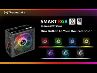 Thermaltake Smart RGB Power Supplies with 256 Colors RGB Lighting