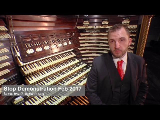 Басок Steven Ball tour of stops Worlds Biggest Pipe Organ Atlantic City