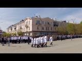 Смотр-конкурс строевой песни в Еманжелинске 9 мая 2017.