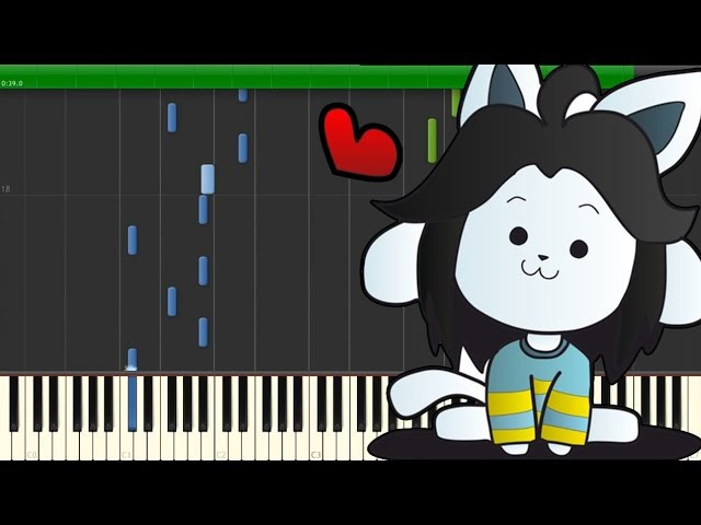 Undertale OST - Tem shop [Piano Tutorial] (Synthesia)