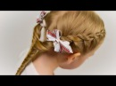VERY EASY and SIMPLE: TWIST BRAID and FISH TAIL. Quick and Easy Hairstyle 32