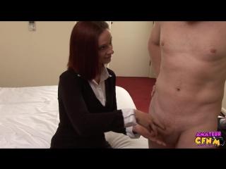 Девка в костюме проверяет пацанчика, инцест, 18+, русское порно, секс, анал, частное, домашнее
