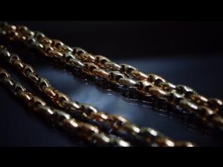 Изготовили литую цепь, микс красного и белого золота