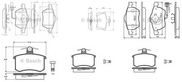 Комплект тормозных колодок, дисковый тормоз для BRILLIANCE BS6