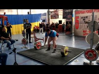 В троеборье Тяга 360 кг. Барков Константин 20 лет. (117,7 кг.)