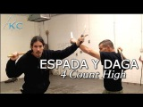 Espada Y Daga Escrima drill - Filipino Martial Arts Kali - Arnis Basics Tutorial