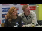 Шуточный флирт Йоханнеса Бё и Габриэлы Коукаловой на пресс-конференции (Хохфильцен 2017)