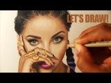 Color pencil portrait tutorial Kat Graham