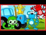 Синий трактор везет киндер сюрпризы Щенячий патруль Маша и медведь Фиксики Мультики про машинки