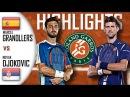 Marcel GRANOLLERS-PUJOL vs Novak DJOKOVIC Highlights Roland Garros 2017