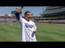 GGG vs Canelo Genandy Golovkin Nails First Pitch At Dodgers Game - EsNews Boxing