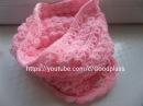 Вяжем красивый нежный шарф снуд, (труба, хомут)спицами на ребенка.Knitting(Hobby)